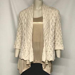 3 piece cardigan/jacket/tank top set